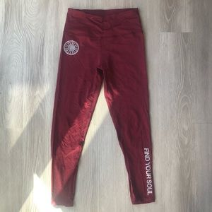 "Maroon ""Find Your Soul"" SoulCycle Tight"